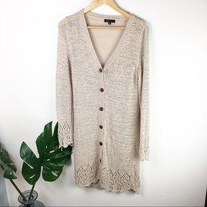 BCBG Maxzria | crochet sweater